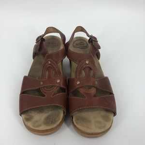 Dansko brown leather sandals 41